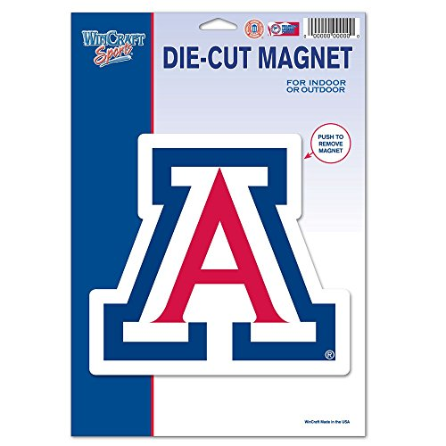 a, University of 88003012 University of Arizona Die Cut Logo Magnet, Small, Black ()