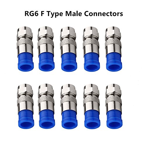 Coaxial Compression Tool Coax Cable Crimper Kit Adjustable RG6 RG59 RG11 75-5 75-7 Coaxial Cable Stripper with 10 PCS F Compression Connectors - Blue by Gaobige (Image #6)