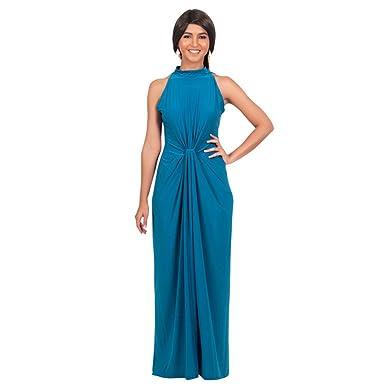 DaBag- Plus Size Elegant Damen Kleid Ärmellos Neckholder kleider ...