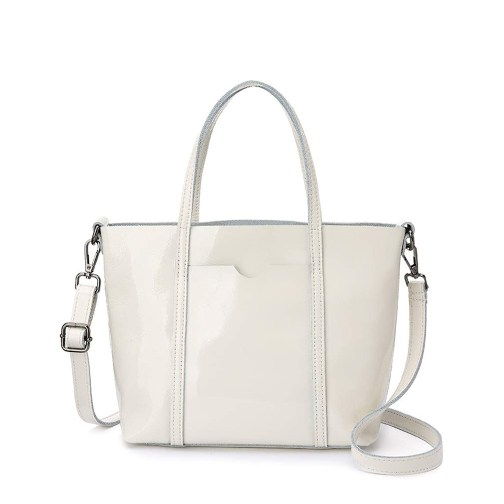b2e879dd44af Amazon.com: Fanabag Shoulder Bag Tote Patent Leather Crossbody Bags ...