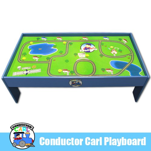 Playboard Train Table - Conductor Carl Playtable and Playboard for Wooden Train Set