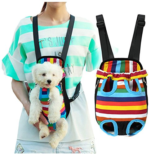 Pet-Carrier-BagDog-Carrier-Front-Pack-Tinkle-ONE-Outdoor-Travel-Comfortable-Pet-Legs-Out-Front-Backpack-for-Dogs