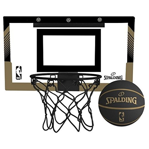 Spalding NBA Slam Jam Over-The-Door Black & Gold Edition Basketball Hoop