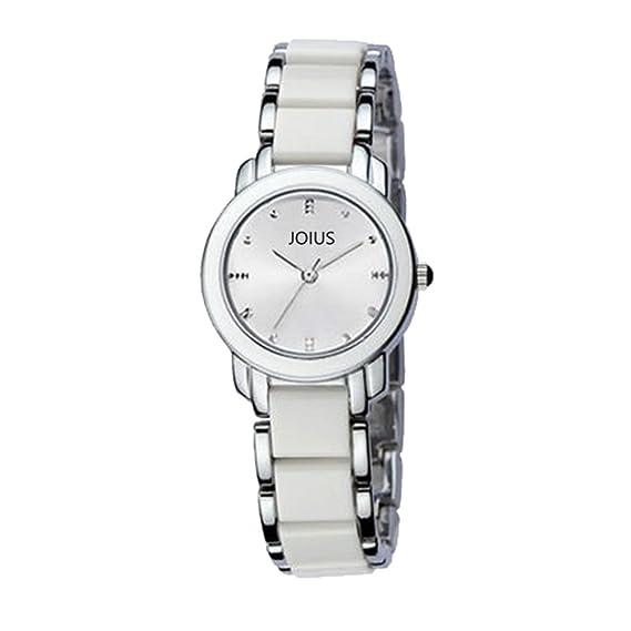 Reloj de Cuarzo simplificado Reloj para Damas imitación Reloj de Pulsera de cerámica-A: Amazon.es: Relojes