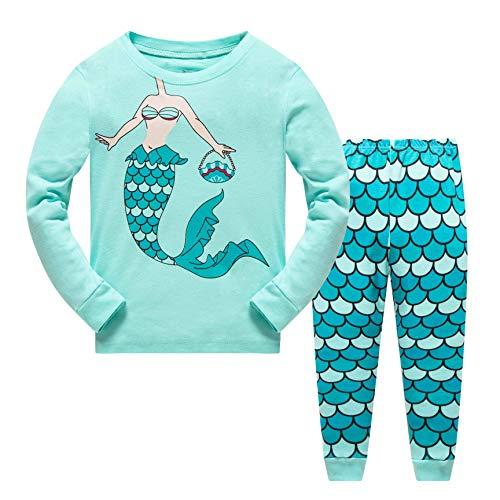 Qzrnly Girls Pajamas Kids Mermaid Pjs Set Toddler Clothes Giraffe Sleepwear