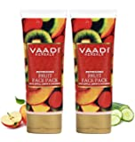 Vaadi Herbals Refreshing Fruit Pack with Apple Lemon and Cucumber, 120gx2