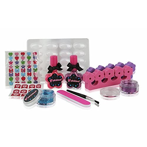 Hot Sale Pinkleaf 3d Nail Art Kit For Kids With Glitter Gems