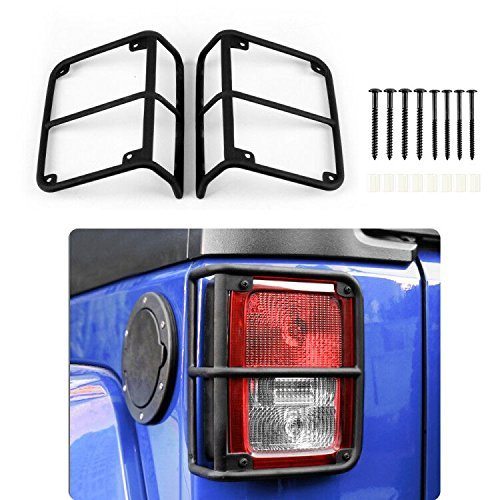 JeCar Tail Light cover ,Black Rear Taillight Guards Protector for Rear Taillights 2007 – 2017 Jeep Wrangler JK Unlimited Accessories