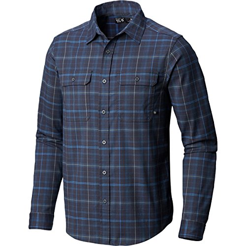 Mountain Hardwear Men's Stretchstone Long Sleeve Shirt Dark Zinc Medium