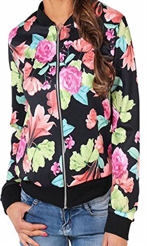 Coat Short Quilted Classic Jacket Jacket Casual Print Floral Fall As Baseball picture today Womens UK vYBx77