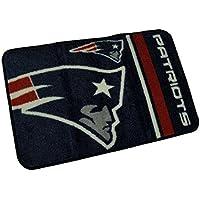 PARKER SURPLUS SALES Round Edge Nylon Rug, Patriots, 18 x 26-NFL