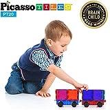 PicassoTiles 2 Piece Car Truck Construction Kit Toy