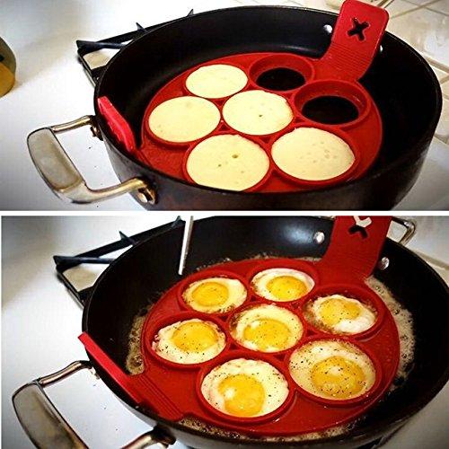 Amazon.com: New Fantastic Nonstick Pancake Maker Egg Ring Maker Perfect Pancakes 4/7/10 Grids Egg Breakfast Tools & Snake Cake Mold - 04: Kitchen & Dining