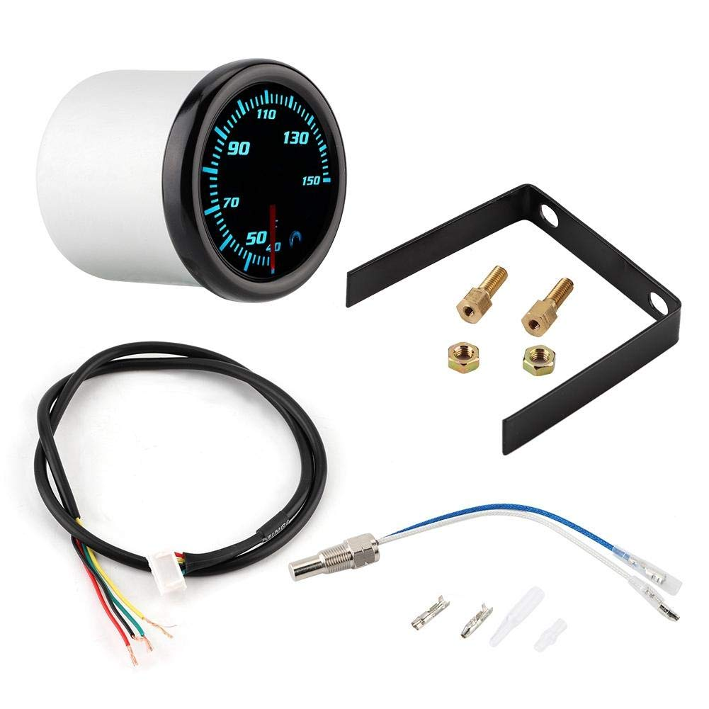 KIMISS 2inch 10-15V Car Oil Temp Gauge Digital Oil Temperature Meter Gauge with Sensor 7 Color by KIMISS (Image #1)