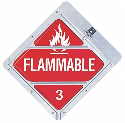 14-1/8'' x 12-1/2'' Aluminum Placard Holder, White/Red