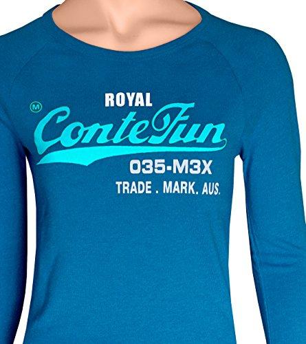 Shirt Rosa Blau M Viola Signore Shirt Manica T Blue T M Rosso Sudore Royal L Nero S Neon Corta Azur Conte Colore Verde XL Grigio Rose AqwvnH40