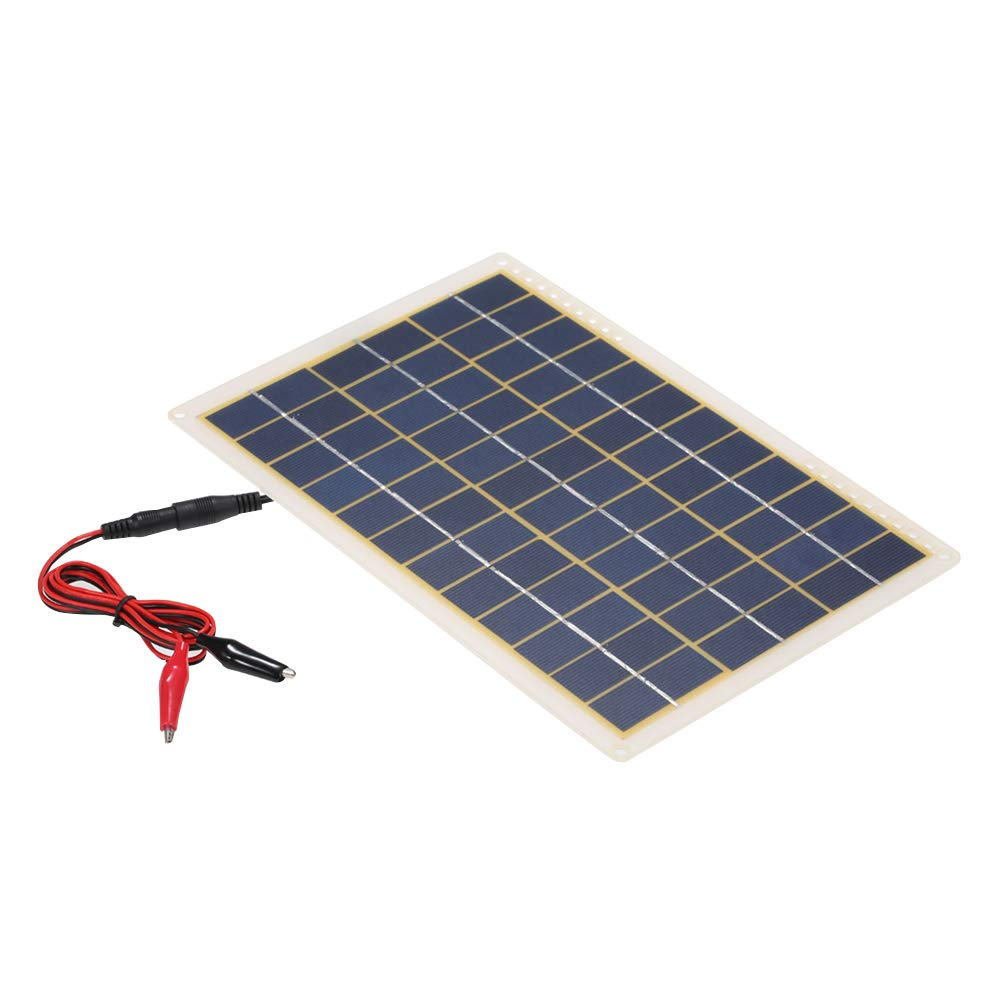 Galapara Solar Battery Charger,Solar Panel Charger DC5V/DC18V 15W Portable Solar Power Energy Charging Panel USB Interface IP65 Water Resistance Necessities for Outdoor Camping by Galapara