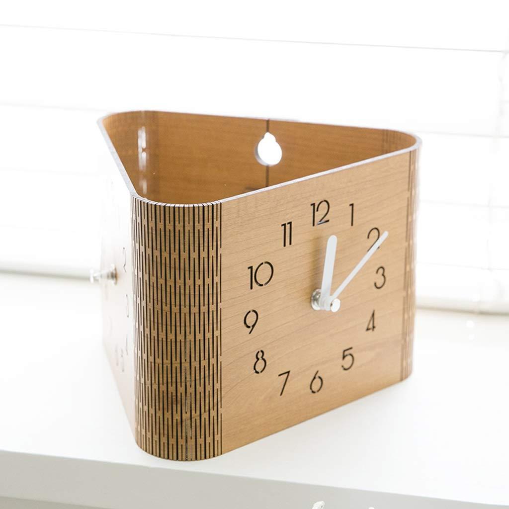 Xq Modern Minimalist Burlywood Double-Sided Wall Clock Living Room Bedroom Home Clock Digital Deskclock by Xq