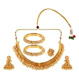 Efulgenz Indian Bollywood 14 K Gold Plated Faux Pe