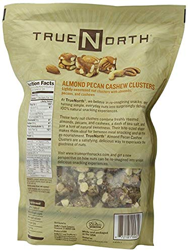 True North 100% Natural Clusters, Almond, Pecan, Cashews, Family Size THREE Pack XSG#( 24 Ounce Each)
