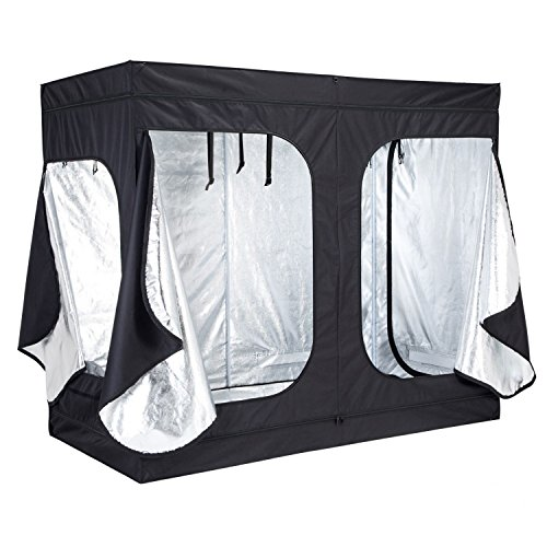 Tent room 96 inch x48 inch x78 inch non toxic hut reflective 600d mylar hydroponic indoor grow