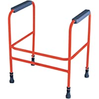 Aidapt Red Ashford Height Adjust Toilet Frame (Eligible for VAT relief in the UK)