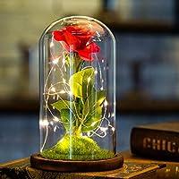 CUS Flores de Rosas Artificiales Luces LED Día de San Valentín ...