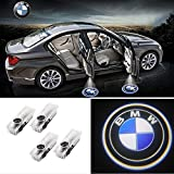 KNRAGHO Car Door led Projector Welcome Light for B M W 1-7 Series X1 X3 X4 X5 X6(4pcs)