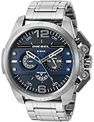 Diesel Mens Ironside Quartz Stainless Steel  Watch, Color:Grey (Model: DZ4398)