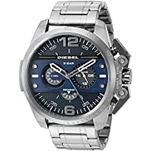 Diesel Men's 'Ironside' Quartz Stainless Steel  Watch, Color:Grey (Model: DZ4398)