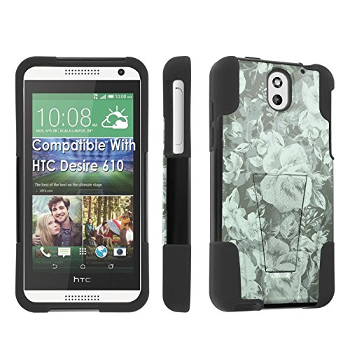 [SkinGuardz] Case for HTC Desire 610 Black/Black [Ultra Shock Resistance Tough Case with KickStand] - [Teal - Desire Htc Cases Teal 610 For