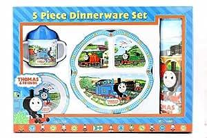 Amazon Com Thomas The Tank Engine 5 Piece Dinnerware Set