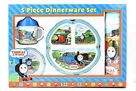 Thomas The Tank Engine 5-Piece Dinnerware Set  sc 1 st  Amazon.com & Amazon.com | Thomas The Tank Engine 5-Piece Dinnerware Set: Feeding ...