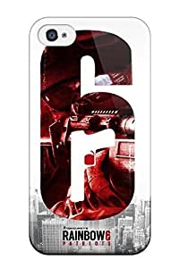 New Arrival Case Cover With LoMqrxb461ilejq Design For Iphone 4/4s- Rainbow 6 Patriots