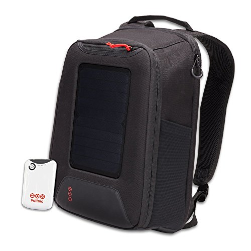 Voltaic Systems - Converter 5 Watt Solar Panel Backpack with Backup Battery Pack - Matte Black | Powers Phones, USB Devices, & More | Charge Your Device as Fast as at Home