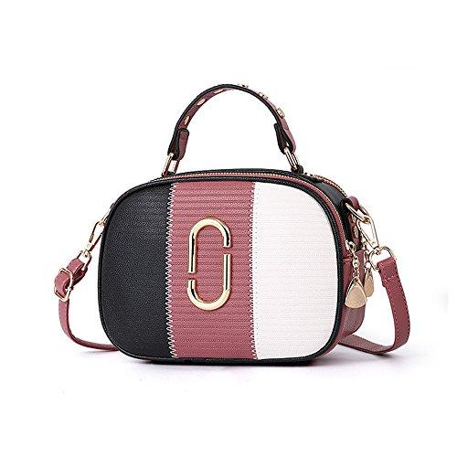 Meaeo Nouveau Sac À Bandoulière Simple Mode Sac À Bandoulière Femme Gris Pink