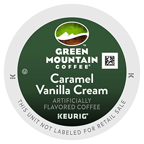 Caramel Brown Swirl - Green Mountain Coffee K-Cups, Caramel Vanilla Cream K-Cup Portion Pack for Keurig Brewers 96-Count
