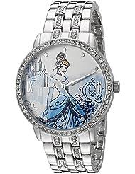 Disney Cinderella Womens W002516 Cinderella Analog Display Analog Quartz Silver Watch