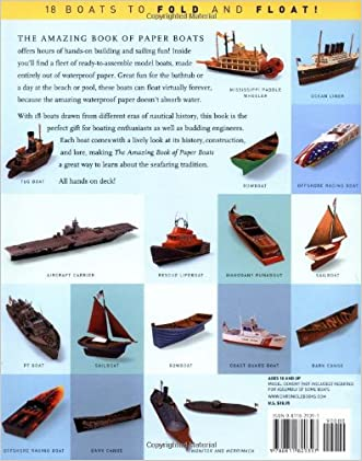 50off The Amazing Book Of Paper Boats 18 Boats To Fold And Float