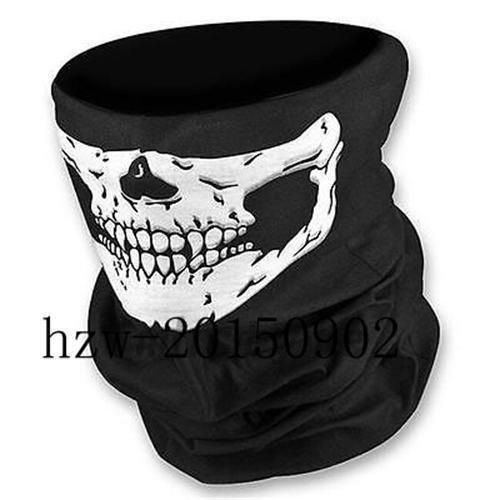 Ghosts & Spiders Swirl Decorations (JUNGSON--New Skeleton Ghost Skull Face Mask Biker Balaclava Costume Halloween Cosplay COD)