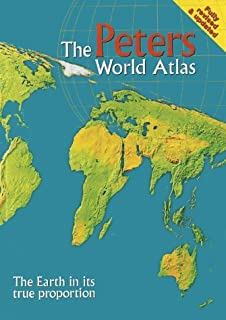 Peters projection world map amazon oxfam 9780855982652 books the peters world atlas the earth in its true proportion written by arno peters gumiabroncs Image collections