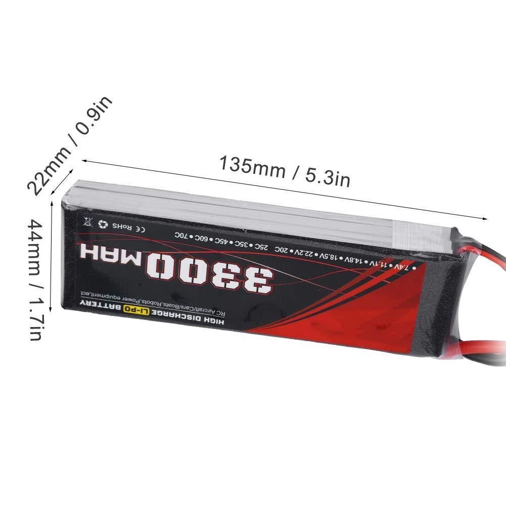 idalinya Batterie al Litio Engpow 11.1v 3300mah 25c T Batteria Ricaricabile al Litio Lipo per Modelli Rc