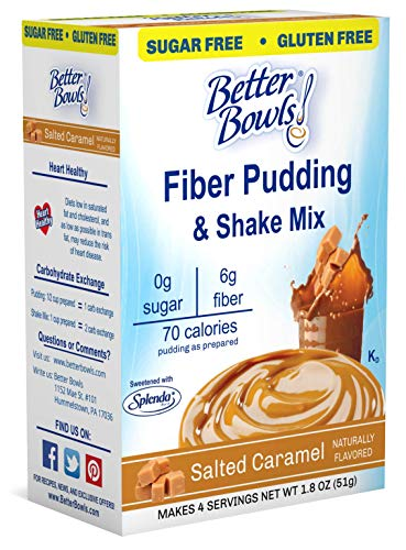 Caramel Pudding - Better Bowls Sugar-Free Instant Pudding, Salted Caramel (1.8 ounce, pack of 6 )