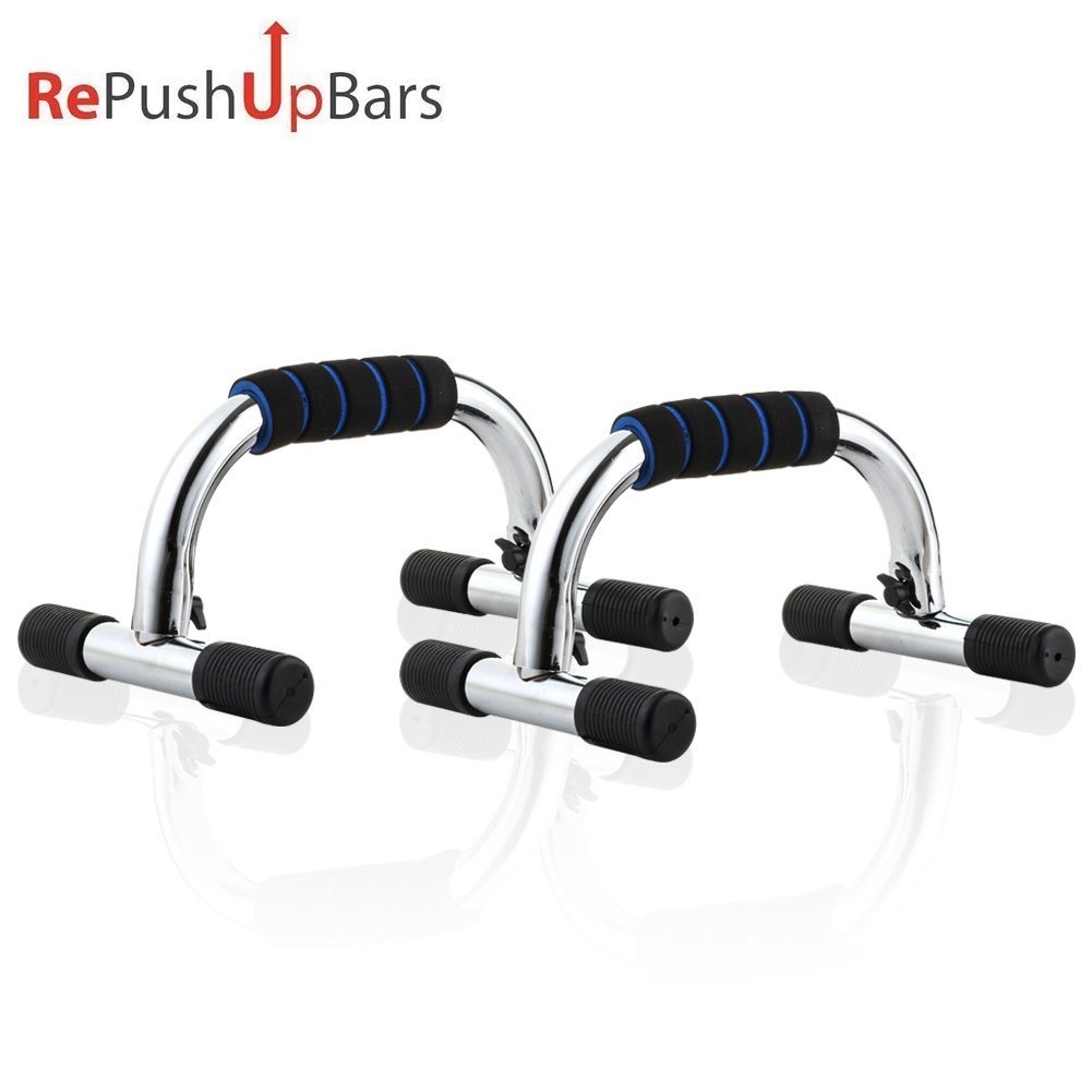Push Up Bars for Men Women, Comfortable Stands Handles Bar Set Portable Home Gym Fitness Workout Exercise Equipment for Muscle Strength Pull Up Strength Training, 300 lbs Capacity with Non-Slip Rubber by Re PushUp Bars