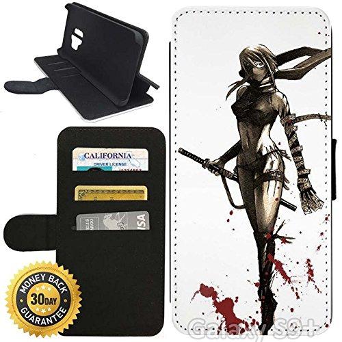Amazon.com: Flip Wallet Case for Galaxy S9 Plus (Woman Ninja ...
