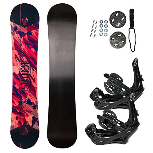 STAUBER Summit Snowboard & Binding Package, Size 161, 158, 153, 148,133 - Best All Terrain, Twin Directional, Hybrid Profile - Adjustable Bindings - Designed for All ()