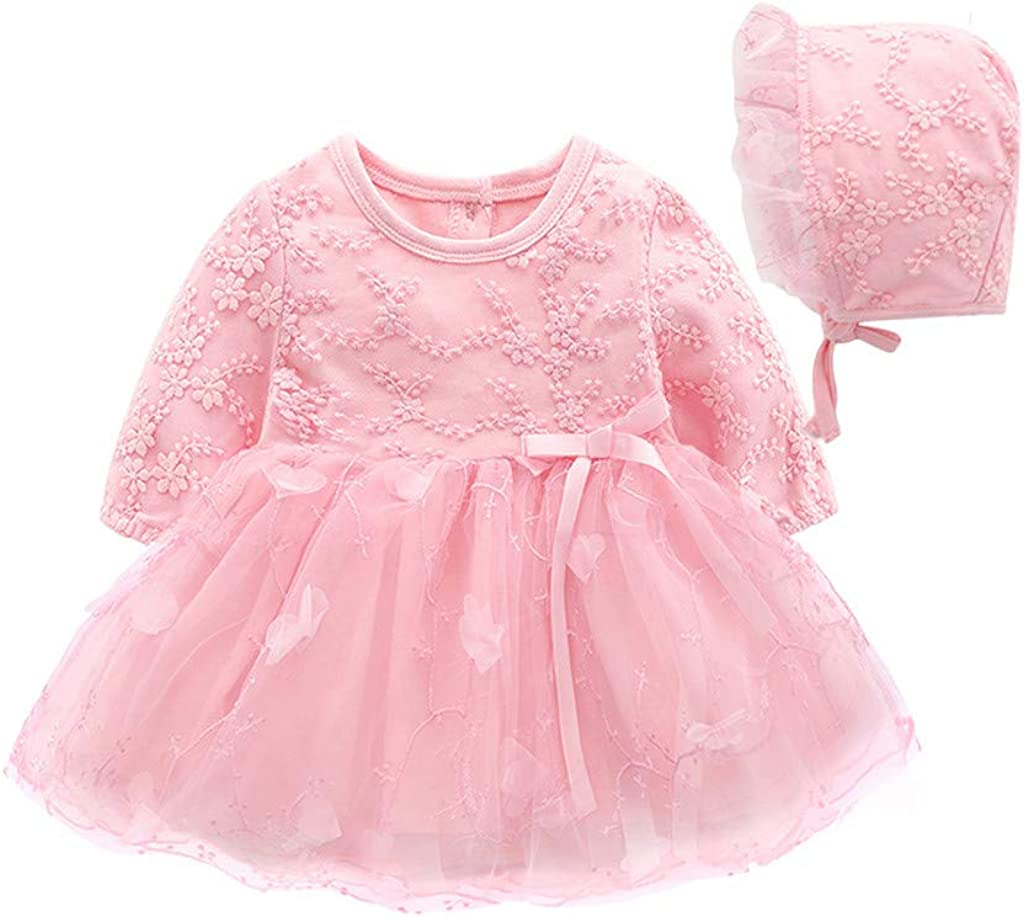 2pcs infant Baby clothes birthday party wedding dress princess TUTU dress+hat