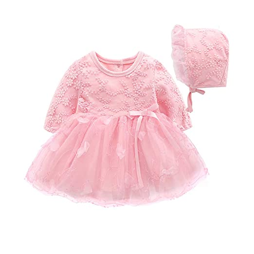 62da52d44dd9b Amazon.com: 2019 New Summer G-Real Floral Baby Girl Princess Infant ...