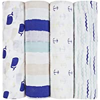aden + anais swaddle 4 pack, high seas