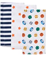 Gerber Flannel Burpcloths for Boys - Set of 3